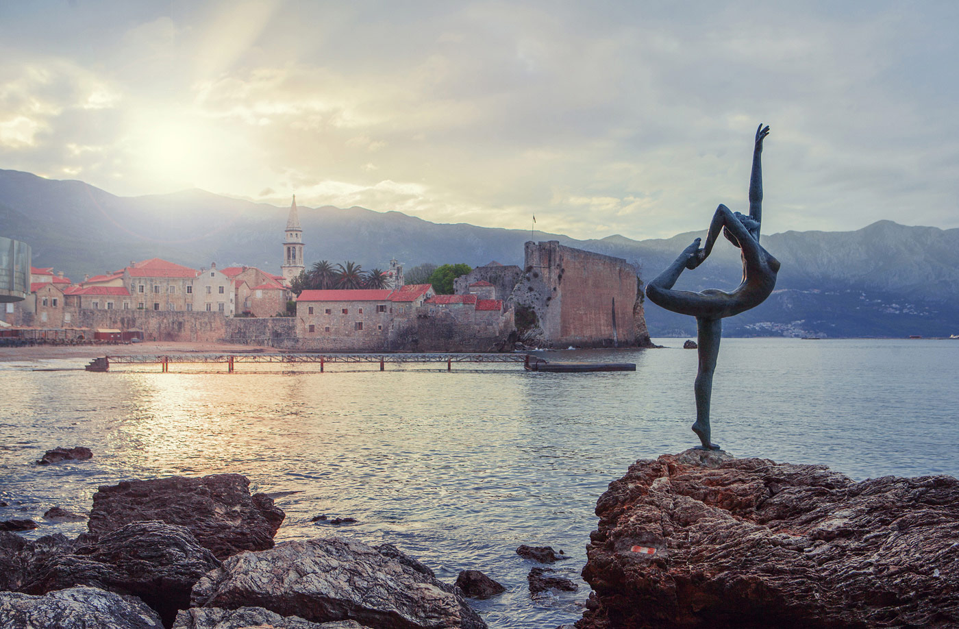 Ballet Dancer Statue in Budva, Montenegro