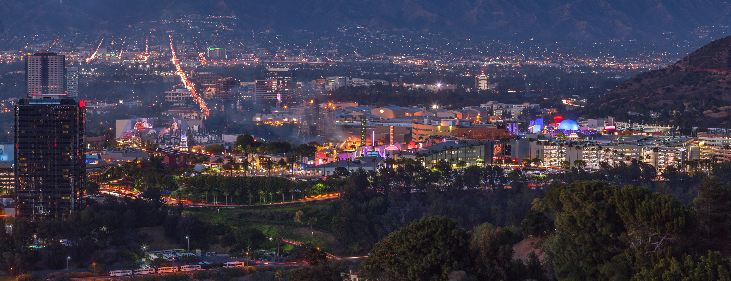 Panoramic View of Universal Studios, Los Angeles